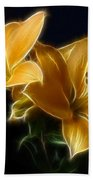 Golden Lilies Beach Towel