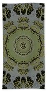 Mandala In Pewter And Gold Beach Towel