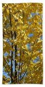 Golden October Beach Towel