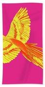 Golden Parrot Beach Towel