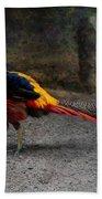 Golden Pheasant Beach Towel