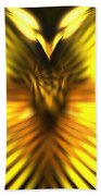 Golden Phoenix Beach Towel