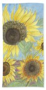 Golden Quartet Beach Towel