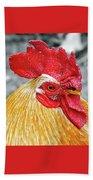 Golden Rooster Portrait Beach Towel