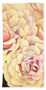 Golden Roses Beach Towel