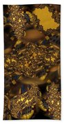 Golden Shimmer Beach Towel