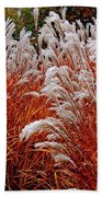 Golden Snow Beach Towel