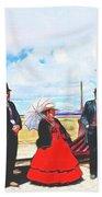 Golden Spike Railroad - Wating - 0749 G Beach Towel