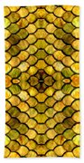 Golden Stained Glass Beach Towel