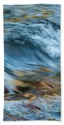 Golden Strands Of Water Beach Towel