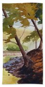 Golden Stream Beach Towel