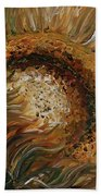 Golden Sunflower Beach Towel