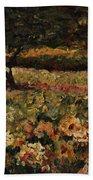 Golden Sunflowers Beach Sheet