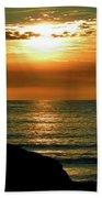 Golden Sunset At The Beach IIi Beach Towel