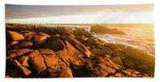Golden Sunset Coast Beach Towel