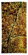 Golden Texture Abstract Beach Towel