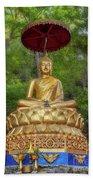 Golden Thai Buddha Beach Towel