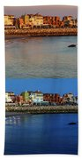 Golden To Blue Hour Puerto Sherry Cadiz Spain Beach Towel