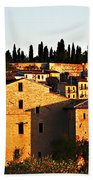 Golden Town Beach Towel