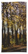 Golden Trees 1 Beach Towel