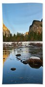 Golden View - Yosemite National Park. Beach Towel
