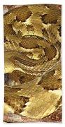 Golden Viper Beach Towel