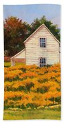Goldenrod Time Beach Towel