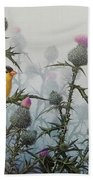 Goldfinch And Thistles Beach Towel