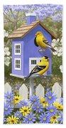 Goldfinch Garden Home Beach Sheet by Crista Forest