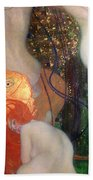 Goldfish Beach Towel by Gustav Klimt