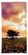 Golds At Sunset After The Rain Beach Towel