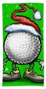 Golf Christmas Beach Towel