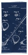 Golf Club Patent 1910 Blue Beach Towel