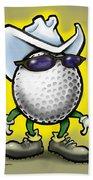 Golf Cowboy Beach Towel