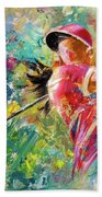Golf Fascination Beach Towel by Miki De Goodaboom