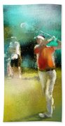 Golf In Club Fontana Austria 03 Beach Towel