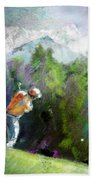 Golf In Crans Sur Sierre Switzerland 02 Beach Towel