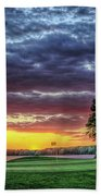 Golf Sunset Number 4 The Landing Reynolds Plantation Golf Art Beach Towel