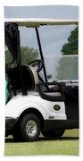 Golfing Golf Cart 05 Beach Sheet