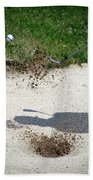 Golfing Sand Trap The Ball In Flight 01 Beach Sheet