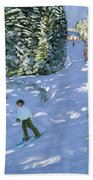 Gondola Austrian Alps Beach Towel by Andrew macara