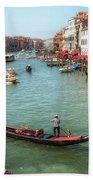 Gondola On The Grand Canal Beach Towel