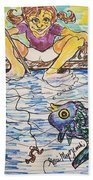 Gone Fishing  Beach Towel