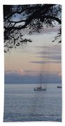 Good Morning Boats Beach Towel