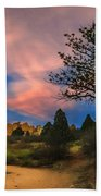 Good Night God's Garden 2 Beach Towel