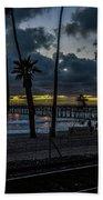 Good Night San Clamente Pier 2 Beach Towel