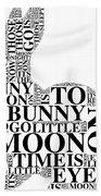 Goodnight My Bunny Beach Sheet