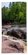 Goose Berry River Rapids Beach Towel