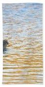 Goose On The Pond Beach Towel
