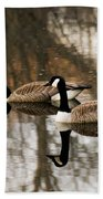 Goose Reflection Beach Towel
